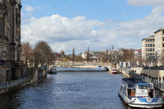 Spree river in Berlin, Germany Royalty Free Stock Photos