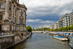 Spree River in Berlin,Germany Royalty Free Stock Images