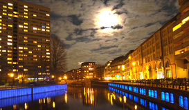 Spree River at Night Royalty Free Stock Photo