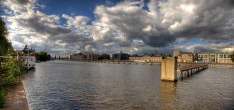 Spree river panorama berlin Stock Photo