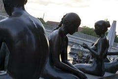 Spree river statues Stock Photo
