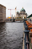 Spree river waterfront and Berliner Dom in Berlin Royalty Free Stock Photo