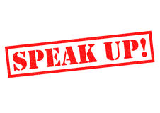 Spreek omhoog! vector illustratie