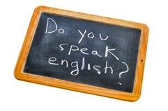 Spreekt u het Engels? Royalty-vrije Stock Afbeelding