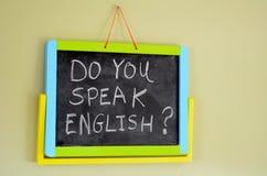 Spreekt u het Engels? Stock Foto