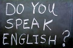 Spreekt u het Engels? Royalty-vrije Stock Afbeeldingen