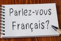 Spreekt u het Frans stock afbeelding