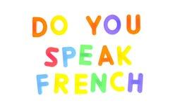 Spreekt u het Frans. Stock Fotografie