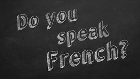 Spreekt u het Frans? royalty-vrije illustratie