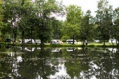 Spreewald的野营的地方 免版税库存图片