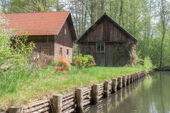 Spreewald hus Arkivbild