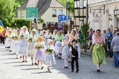 Spreewald i ochrona w Luebbenau 7/2/2016 ruchów Starym miasteczkiem zdjęcia stock