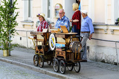 Spreewald and protection-firmly in Luebbenau 7/2/2016 Barrel organ in the street edge Royalty Free Stock Photography