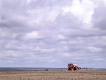 Sprejare på en sojaböna Arkivfoto