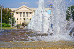Sprejen av springbrunnen Fotografering för Bildbyråer