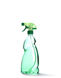 Sprejflaska med grön flytande Royaltyfri Fotografi