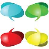 Sprekende ballons vector illustratie