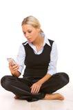 Sprekende celtelefoon royalty-vrije stock afbeeldingen