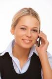 Sprekende celtelefoon royalty-vrije stock foto's