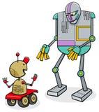 Sprekende de fantasiekarakters van het robotsbeeldverhaal stock illustratie