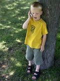 Sprekende jongen Royalty-vrije Stock Foto's
