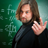 Sprekende professor Stock Foto's