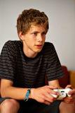 Sprekende videospelletjespeler stock foto
