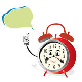Sprekende Wekker. Geanimeerd Horloge met Bel Stock Afbeelding