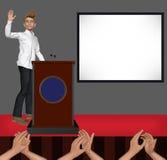 Spreker de Golvende het Welkom heten Illustratie van de Stadiumpresentatie Royalty-vrije Stock Afbeeldingen