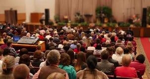 Spreker die op Conferentie spreken stock videobeelden
