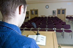 Spreker in leeg auditorium Royalty-vrije Stock Afbeelding
