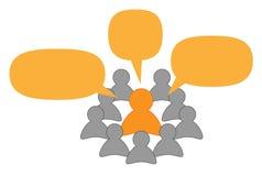 Spreker of leraar en luisteraars Stock Afbeeldingen