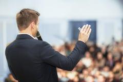 Spreker op Handelsconferentie royalty-vrije stock foto's