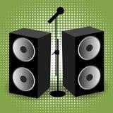 Sprekers en mic Stock Foto