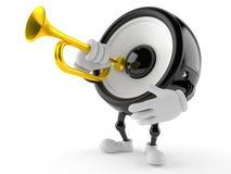 Sprekerskarakter die de trompet spelen royalty-vrije illustratie