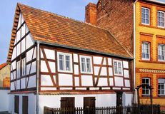 Spremberg half-timber house Stock Photos