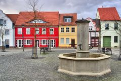 Spremberg little square Royalty Free Stock Photos