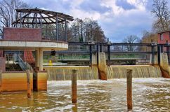 Sprembergwaterkering stock fotografie