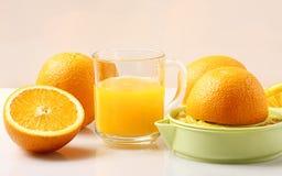 Spremitoio del succo di arancia Fotografie Stock