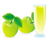 spremuta dalla mela verde Fotografia Stock