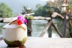 Spremuta della noce di cocco nella noce di cocco. Fotografia Stock Libera da Diritti