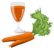 Spremuta di carota Immagine Stock