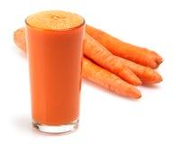 Spremuta di carota Immagini Stock Libere da Diritti