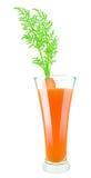 Spremuta di carota fresca Fotografie Stock