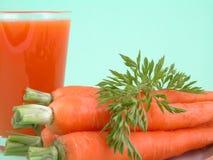 Spremuta di carota naturale Fotografia Stock Libera da Diritti