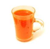 Spremuta di carota in un vetro Immagini Stock