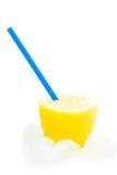 Spremuta di limone naturale fresca con ghiaccio Fotografia Stock