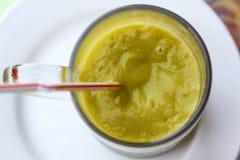 Spremuta di papaia fresca Fotografia Stock Libera da Diritti
