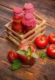 Spremuta di pomodori fotografia stock libera da diritti