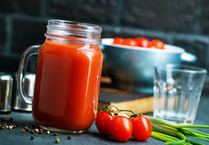 Spremuta di pomodori Fotografia Stock